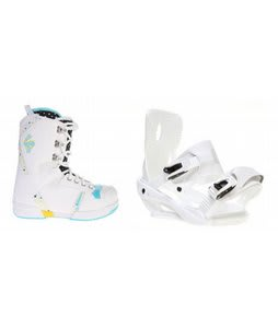 Salomon Dawn Snowboard Boots w/ Sapient Zeta Bindings White