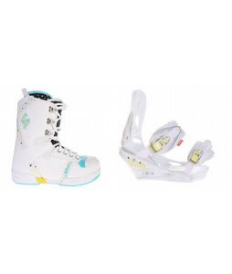 Salomon Dawn Snowboard Boots w/ Burton Lexa Bindings White A Dot