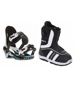 Burton Ruler Smalls Snowboard Boots Black/White w/ Morrow Axiom Bindings Black