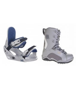 Lamar Force Snowboard Boots Charcoal w/ Burton Freestyle Jr Bindings Lt Grey