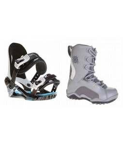 Lamar Force Snowboard Boots Charcoal w/ Morrow Axiom Bindings Black