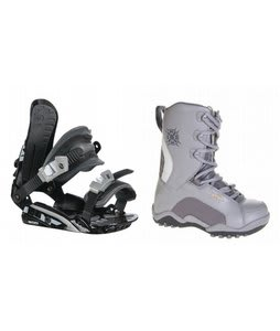Lamar Force Snowboard Boots Charcoal w/ Rossignol HC500 Bindings Black/Silver