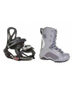 Lamar Force Snowboard Boots Charcoal w/ Sapient Prodigy Bindings Black