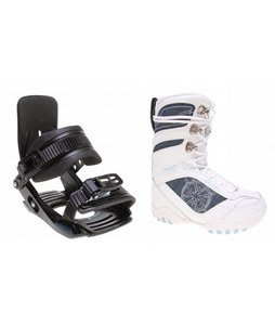 Lamar Justice Snowboard Boots White w/ Salomon Team Bindings Black