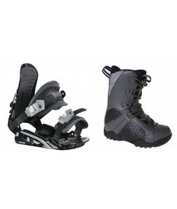 LTD Classic Snowboard Boots Grey/Black w/ Rossignol HC500 Bindings Black/Silver