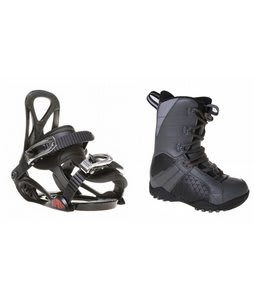 LTD Classic Snowboard Boots Grey/Black w/ Sapient Prodigy Bindings Black