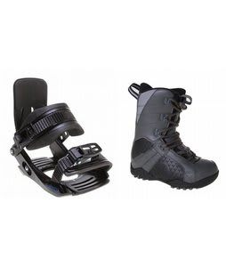 LTD Classic Snowboard Boots Grey/Black w/ Salomon Team Bindings Black