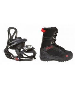 Sapient Prodigy Snowboard Boots Black w/ Sapient Prodigy Bindings Black