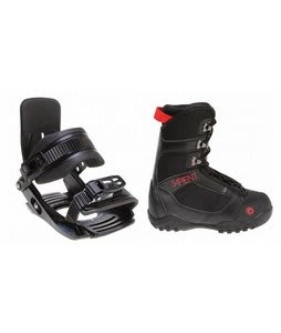 Sapient Prodigy Snowboard Boots Black w/ Salomon Team Bindings Black