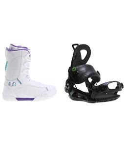 K2 Plush Boots w/ Roxy Rock-It Blast Bindings