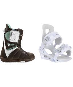 Burton Mint Snowboard Boots w/ Chamonix Brevant Bindings
