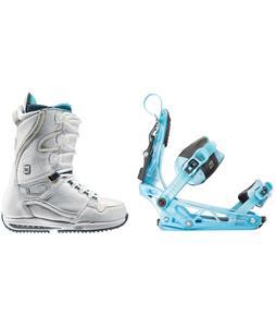 Burton Sapphire Snowboard Boots w/ K2 Cinch Tryst Bindings