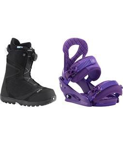 Burton Starstruck BOA Snowboard Boots w/ Burton Stiletto Bindings