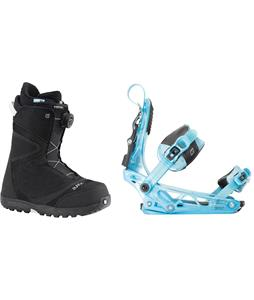 Burton Starstruck BOA Snowboard Boots w/ K2 Cinch Tryst Bindings