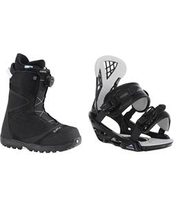Burton Starstruck BOA Snowboard Boots w/ Chamonix Bellevue Bindings