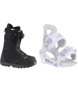 Burton Starstruck BOA Snowboard Boots w/ Chamonix Brevant Bindings