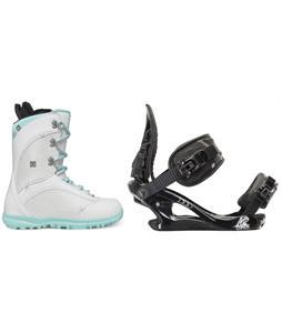 DC Karma Snowboard Boots w/ K2 Charm Bindings