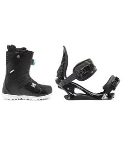 DC Search BOA Snowboard Boots w/ K2 Charm Bindings
