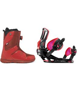 DC Search BOA Snowboard Boots w/ Rossignol Myth Bindings