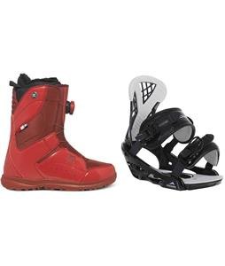 DC Search BOA Snowboard Boots w/ Chamonix Bellevue Bindings