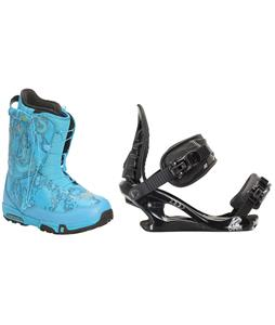 Forum Stampede SLR Snowboard Boots w/ K2 Charm Bindings