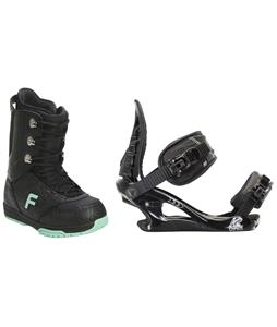 Forum Destroyer Snowboard Boots w/ K2 Charm Bindings