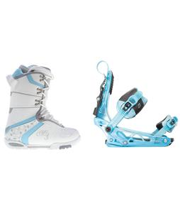 M3 Cosmo Snowboard Boots w/ K2 Cinch Tryst Bindings