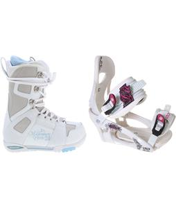 M3 White Snowboard Boots w/ LTD LT250 Bindings