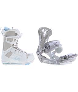 M3 White Snowboard Boots w/ Sapient Zeta Bindings