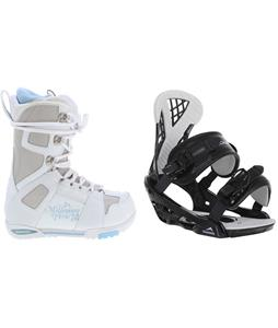 M3 White Snowboard Boots w/ Chamonix Bellevue Bindings