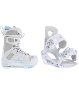 M3 White Snowboard Boots w/ Chamonix Brevant Bindings