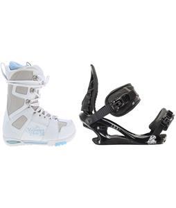M3 White Snowboard Boots w/ K2 Charm Bindings