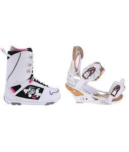 M3 Cosmo Snowboard Boots w/ Burton Escapade Bindings