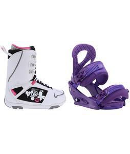 M3 Cosmo Snowboard Boots w/ Burton Stiletto Bindings