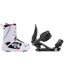 M3 Cosmo Snowboard Boots w/ K2 Charm Bindings