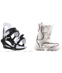Burton Emerald Smalls Snowboard Boots w/ Chamonix Savoy Bindings