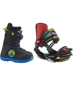 Burton Zipline BOA Snowboard Boots w/ Rossignol Rookie Bindings