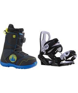 Burton Zipline BOA Snowboard Boots w/ Sapient Zeus Jr Bindings
