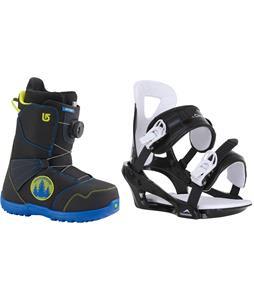 Burton Zipline BOA Snowboard Boots w/ Chamonix Savoy Bindings