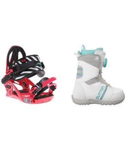 Burton Zipline Snowboard Boots w/ K2 Kat Bindings