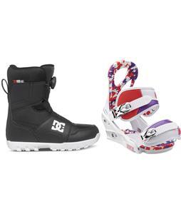 DC Scout BOA Snowboard Boots w/ Burton Stiletto Smalls Bindings