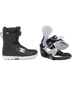 DC Scout BOA Snowboard Boots w/ Burton Grom Bindings