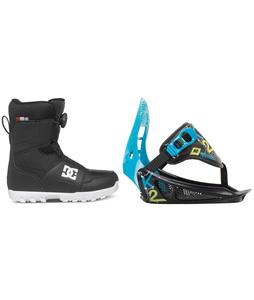 DC Scout BOA Snowboard Boots w/ K2 Mini Turbo Bindings