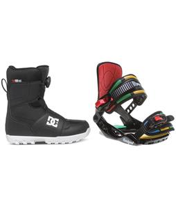 DC Scout BOA Snowboard Boots w/ Rossignol Rookie Bindings
