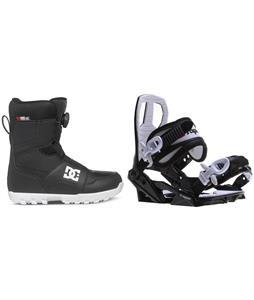 DC Scout BOA Snowboard Boots w/ Sapient Zeus Jr Bindings