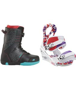 K2 Vandal Snowboard Boots w/ Burton Stiletto Smalls Bindings