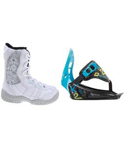 M3 Venus Jr. Snowboard Boots w/ K2 Mini Turbo Bindings