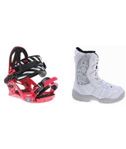 M3 Venus Jr. Snowboard Boots w/ K2 Kat Bindings