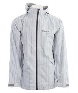 Burton 2L Anthem Snowboard Jacket Silver Chalk Stripe
