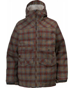 Burton 2L Hemisphere Snowboard Jacket Brimstone Hombre Plaid